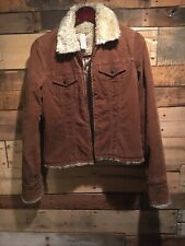 Abercrombie & Fitch Jacket Womens size M Juniors Brown Corduroy Coat Bomber