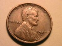 1922-D Scarce Choice XF Brown Toned Original Lincoln Wheat One Cent 1 Penny Coin