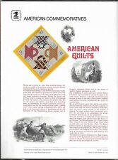 US 1978 USPS Commemorative Panel American Quilts Unopened Original Packaging |