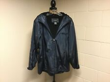 Men's Outbrook Navy Blue Solid Heavy Coat Large 12-14