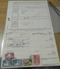 Malaysia malaya 1965 Sultan Johore Johor RARE DOCUMENT stamp $1 $5 $2 20c seal