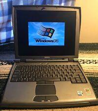 Vintage Dell Latitude C400 ~ Windows 98 Gaming/CNC/Embroidery Laptop Pentium 3 2