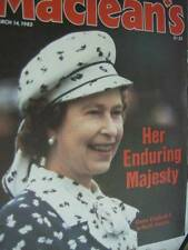 Maclean's March 14, 1983 Magazine- Queen In North America/Search For Alexander/P