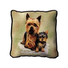 "17"" x 17"" Pillow - Yorkshire Terrier Yorkie & Pup by Robert May 1136"