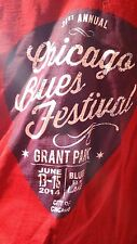 2014 31st Annual Chicago Blues Festival T-Shirt Medium Red Music Concert Jazz