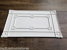 "Cp67 Panel De Techo 10 1/8 ""x 6 1/2"" Yeso replicast Miniatures-Casa De Muñecas"