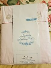 New listing Simply Shabby Chic Light Pink King Size Sheet Set. Unopened