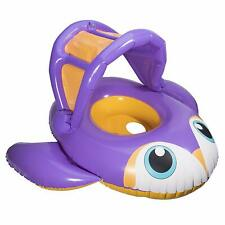 SwimWays Inflatable Sun Canopy Baby Boat Penguin Purple 9-24 Months New