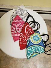 3 mascarillas de doble  tela con filtro, unisex multicolor lavable,  face mask..