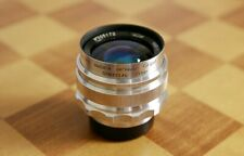 ⭐RARE⭐US Seller⭐MIR-1 Grand Prix Brussels Red P (П) 37mm f/2.8 M39 Silver Lens