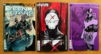 Future State Teen Titans #1 2nd Print + #2 Main Cover + Variant Set DC NM