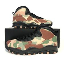 Nike Air Jordan 10 Retro Duck Camo Desert Black Dusted Clay 310805-200 Size 8
