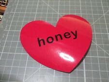 HONEY HEART PINK GLOSSY Sticker Decal Bumper Bomb Skateboard/Laptop  NEW
