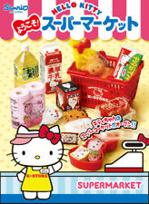 Rare! Re-ment Miniature Welcome! Hello Kitty Supermarket Full Set of 8 pcs