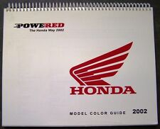 2002 Honda Motorcyles-Scooters Dealer Model Color Guide Catalog