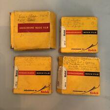 Kodachrome 8 mm Film Home Movies Lot of 4 1960's Florida Vacation Atlanta