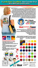 15 YARDS SISER EASYWEED HEAT TRANSFER VINYL (MIX & MATCH YOUR FAVORITE COLORS)