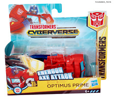 Transformers Cyberverse Action Attackers Energon Axe Attack Optimus Prime Figure