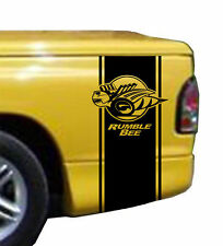 03-08 Dodge Ram Rumble Bee Decals Black Both Sides Complete Kit Mopar OEM