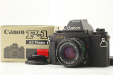 [Near Mint in Box] Canon New F-1 AE SLR Camera New FD 50mm F1.8 Lens from Japan