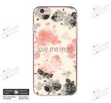 Cover for Apple iPhone 7 Love Me More Slim Soft Case Back Shell Roses