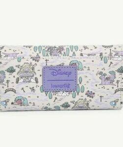 Loungefly Disney Alice In Wonderland Wallet Map Pattern Pastel