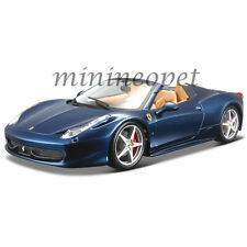 BBURAGO 18-26017 FERRARI 458 SPIDER 1/24 DIECAST MODEL CAR BLUE