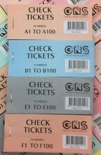 8xRaffle Check Door Prize Ticket Books Numbered 1-100  Assorted, Free Shipping