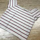 S-43 Good Luck Gem cropped tee top RED WHITE BLUE Size L Nwot