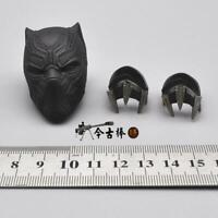 "1:6th Chadwick Boseman Black Panther Helmet Bracer Toys F 12"" Male Action Figure"