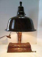 Vintage/Antique Wood Apollo Desk Lamp RARE, RARE