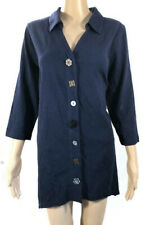 Soft Surroundings Danielle Button Tunic Style 28157 Top Size L 3/4 Sleeve Blouse