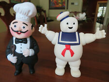 Nos Ghostbusters Stay Puft Marshmellow Man+Magic Chef Advertising Figures Mint