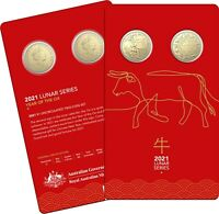 Year of the Ox 2021 $1 Uncirculated 2 Coin Set