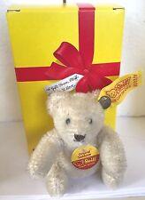 "❤️STEIFF ORIGINAL MINIATURE TEDDY BEAR + STEIFF BOX  ~ MINI 0203/11 4""  WHITE❤️"