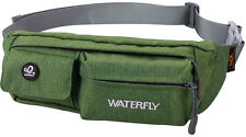 WATERFLY Running Waist Bag Bum Bag Pouch Outdoor Fanny Pack Hip Pack Army Green