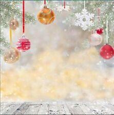 Christmas Wood Vinyl Photography Backdrop Background Studio Props 10x10FT SDX110