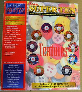 COREL SUPER TEN Royalty-Free Hi Res TEXTURES Photo Pack