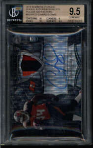 CHARLES SIMS 2014 BOWMAN STERLING BGS 9.5/9 PULSAR ROOKIE PATCH AUTO #/25 FC4887