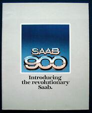 PROSPEKT BROCHURE 1979 SAAB 900 * gli * EMS * Turbo (USA)