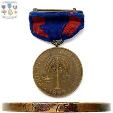 M.Nọ 3750 ARMY 1899 PHILIPPINE CAMPAIGN MEDAL WRAP BROOCH U.S. MINT NUMBERED