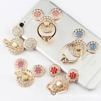 Metal Mickey Finger Ring Phone Holder Grip & Stand Socket Diamond For Phone