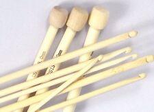 Set di 9 in bambù Ganci Afgani Tunisini Uncinetto ogni Gancio 30cm di lunghezza 4 - 10mm