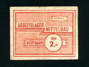 Germany/Mittelbau Camp: 2 RM,1943-5 * WWII * Rare *