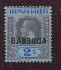 """BARBUDA -  SG. 6 :  1922  """"  OVERPRINT on 2/=  LEEWARD  ISLANDS  DEFINITIVE  """" ."""
