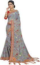 Indian Traditional Designer Bandhej Saree Bollywood Wedding Party Wear Sari