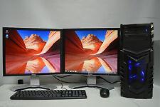 """GAMING PC Set Quad i5 2nd Gen 8GB DDR3 1TB 2GB GDDR5 GTX 1050 WIN 10  2 x 19"""""""