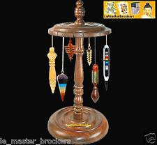 Présentoir bois (Merisier) pour lot Pendules (Radiesthésie) .. collier pendentif