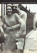 PUBLICITE ADVERTISING 116  1969  Playtex  le bustier sous vetements