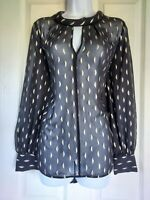 Womens Principles Blouse size 14 black gold smart work party office vgc